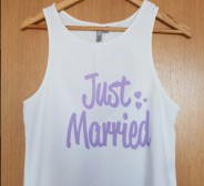 """""""Just married"""" top, S"""